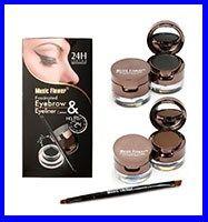 Hot Selling Brand Music Flower 2 In 1 Brown + Black Waterproof Smudge-proof Cosmetics Set Gel Eyeliner Makeup