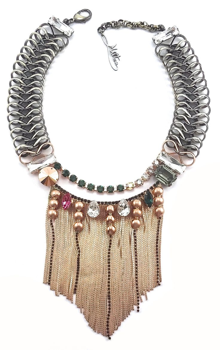 MILTON-FIRENZE WILD FRINGE NECKLACE Shop at: http://www.boutiqueonclick.com/boutique/Milton-Firenze Follow us on: https://www.facebook.com/pages/MILTON-FIRENZE/237831466369428