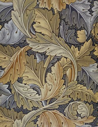 Acanthus Wallpaper Canvas by William Morris