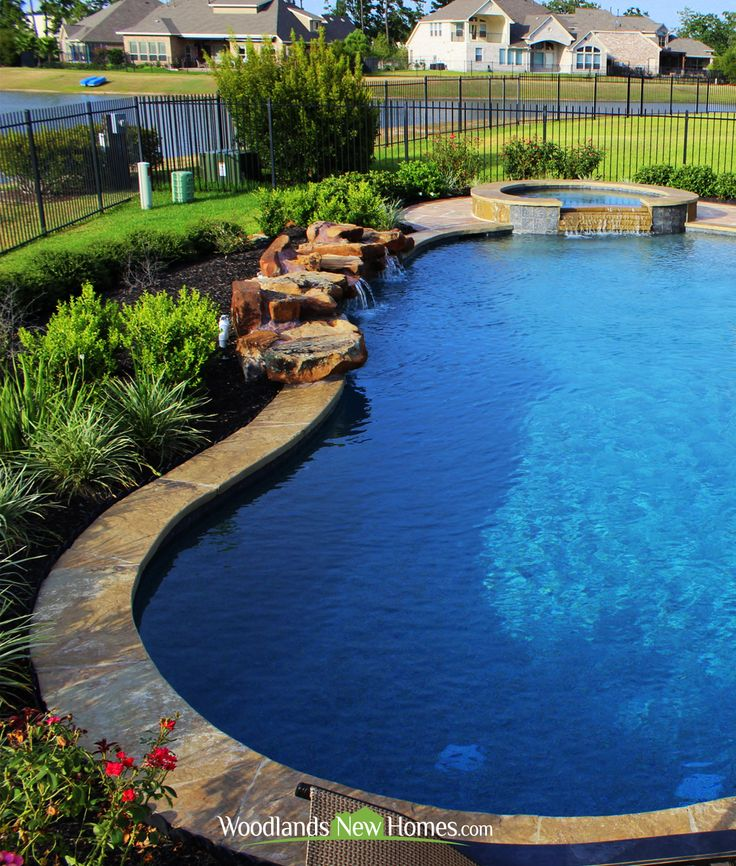 Landscaped Backyards With Pools: 86 Best Pools And Hot Tubs Images On Pinterest