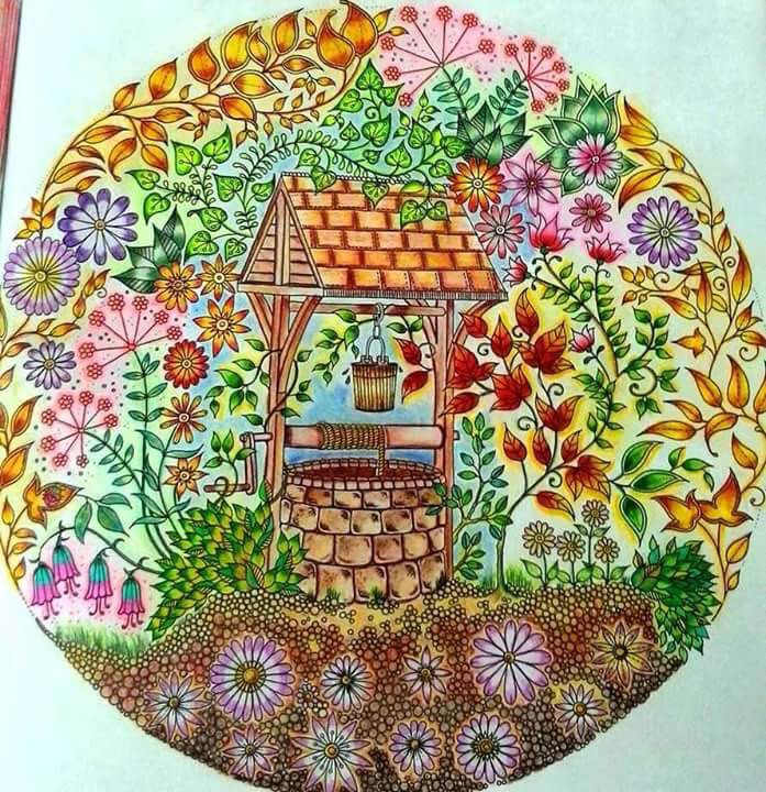 Well Secret Garden Poco Jardim Secreto Johanna Basford BasfordColoring BooksColouringJournalingWishing
