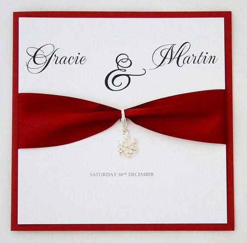 snowflake wedding invitation handmade Handmade Wedding Invitations