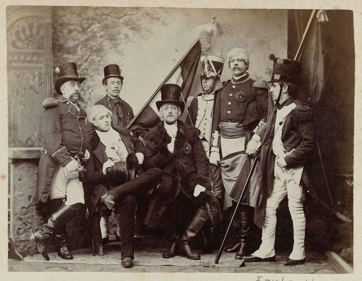 Anonymous | Portret heren in kostuums onafhankelijkheidsfeesten, Anonymous, 1888 |