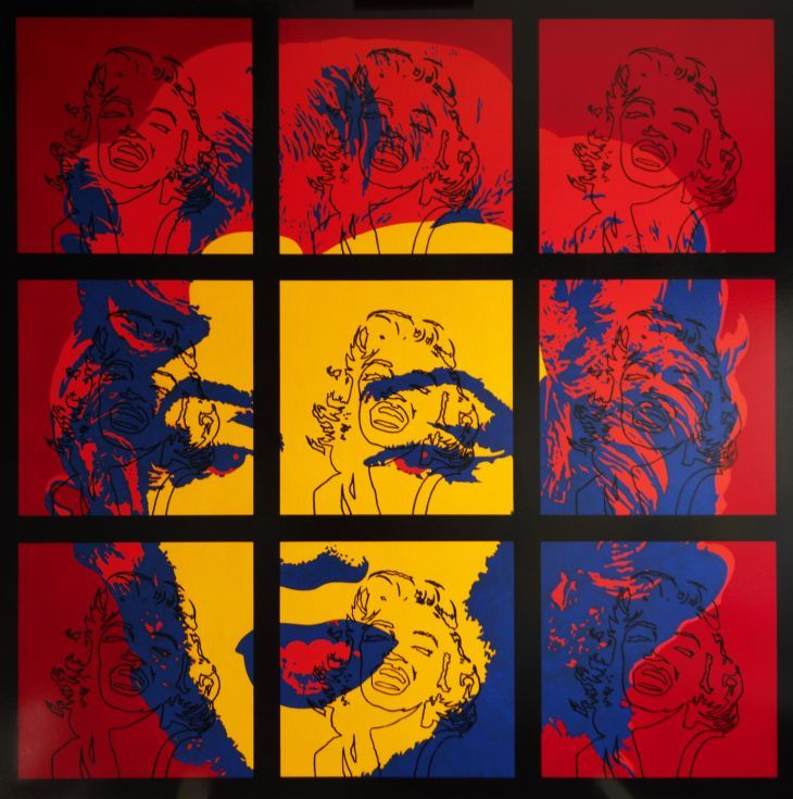 """ARTFINDER: """"10 Faces of Marilyn"""" by ADAM RAID - Acrylic on Hardboard canvas frame. Sides painted. High gloss varnish protection. Signed on the back. No frame required."""