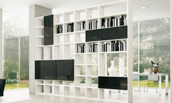 Partition Storage As A Room Divider For Office Pantry Or
