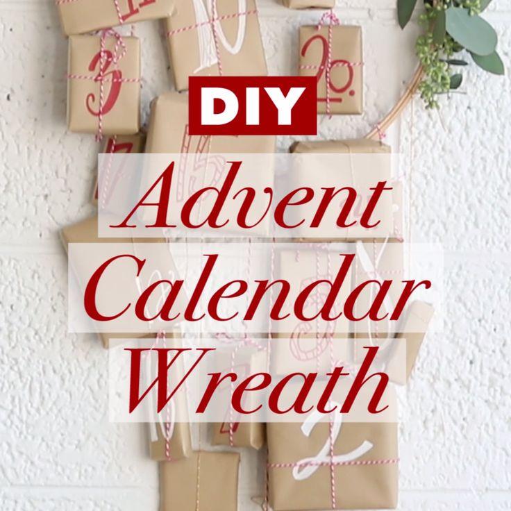 DIY Advent Calendar Wreath