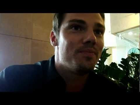 "OMG the lip licking!! The Accent!! That beautiful smile!! YUM!!!    My video interview with star Jay Ryan about his new series ""Beauty and the Beast"" premiering on the CW -- hear all the scoop on the Vincent and Catherine romance!"