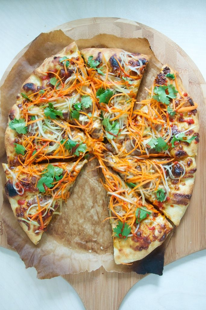 Pork Bahn Mi Pizza Recipe // www.dulanotes.com @nicoledula