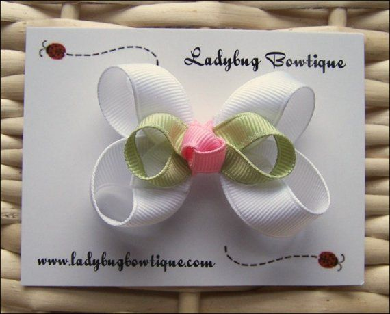 Little Baby Bud Hair Bow White by LadybugBowtique on Etsy, $2.99