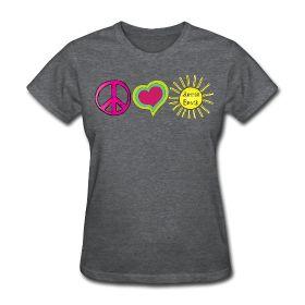 Peace Love Summer Break  http://kreativeinkinder.spreadshirt.com/