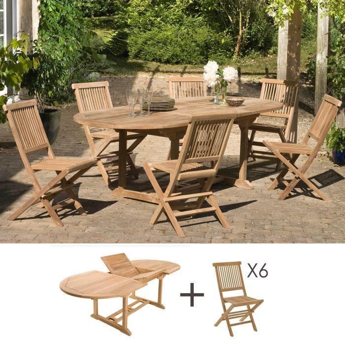 Ensemble Table Et 6 Chaises En Teck M S Pas Cher Salon De Jardin Manomano En 2020 Chaise Teck Table Et Chaises De Jardin Et Salon De Jardin Castorama