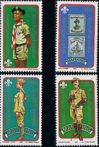 Bophuthatswana 1982 75th Anniv of Boy Scout Movement Set Fine Mint                    SG 84 7 Scott 84 7 Other African and British Commonwealth Stamps HERE!