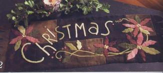 Christmas Poinsettias Wool Mat. A Maggie Bonanomi design.