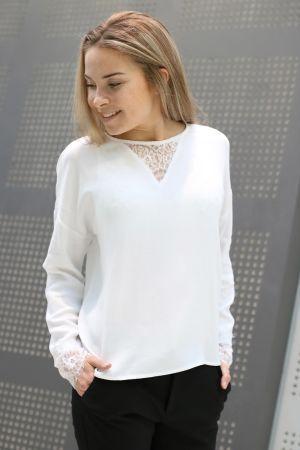 Minimum - Georgette Blouse White