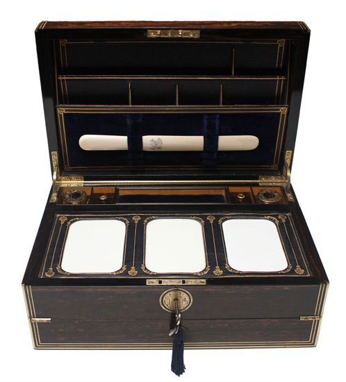 antique writing boxes | Antique Boxes & Stationery
