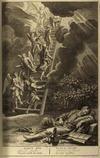 Лестница Иакова (Быт.27:12). Иллюстрация из книги «Библейские образы». Гаага, 1728.