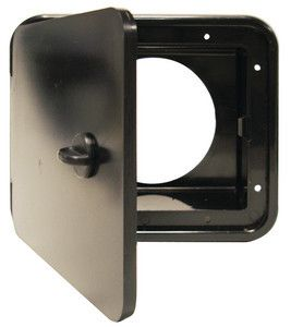 JR Products L8D83-A Black Thumb Lock for Sewer Hose/Storage Hatch