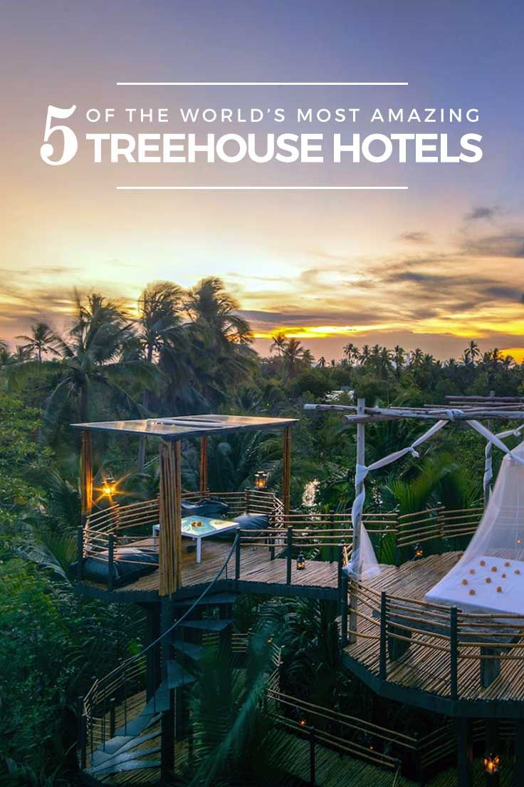5 of the world's most amazing treehouse hotels https://www.youtube.com/channel/UC76YOQIJa6Gej0_FuhRQxJg