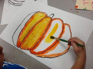Grande Park Art: 1st Grade Painted Pumpkins