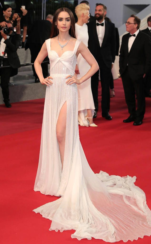 Lily Collins from Cannes Film Festival 2017: Star Sightings  We loved the actress' ethereal gown at the Okja premiere.