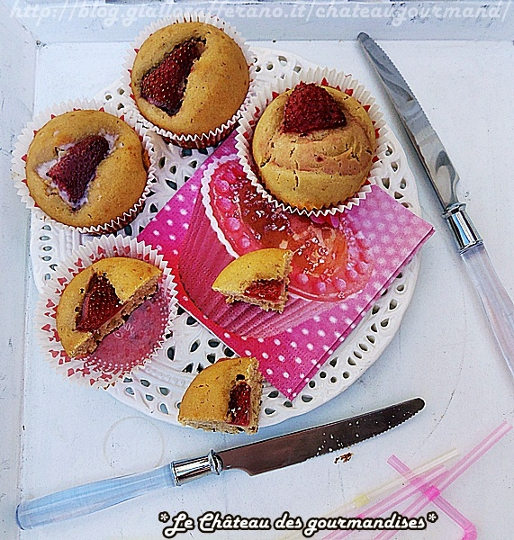 Strawberry muffins...before frosting! :D