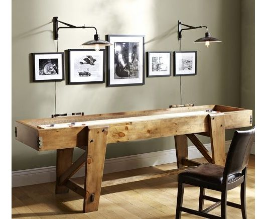 The 25 best shuffleboard table ideas on pinterest used for Pottery barn poker table