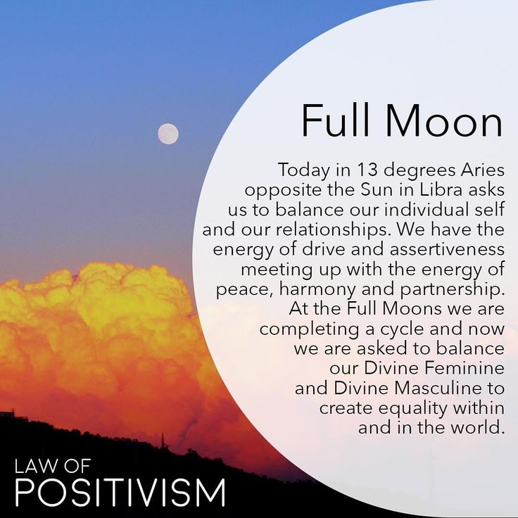 The Full Moon today is exact at 2.40 PM (EDT) in 13 degrees Aries, exactly opposite from the Sun in Libra. Aries is fire, assertion, drive, individuality and intense emotions. Aries is ruled by the masculine planet Mars, which is the planet of war, energy and action. The Sun is the feminine sign of Libra, ruled by Venus and asking us to balance our individuality with partnerships and friendships in order to create more harmony. We are being asked to face emotions connected to anger, fear…