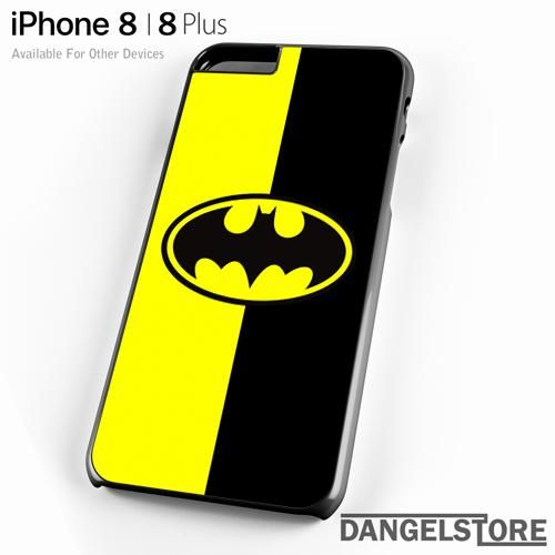 Batman Old Logo With Black & Yellow Background For iPhone 8 | 8 Plus Case