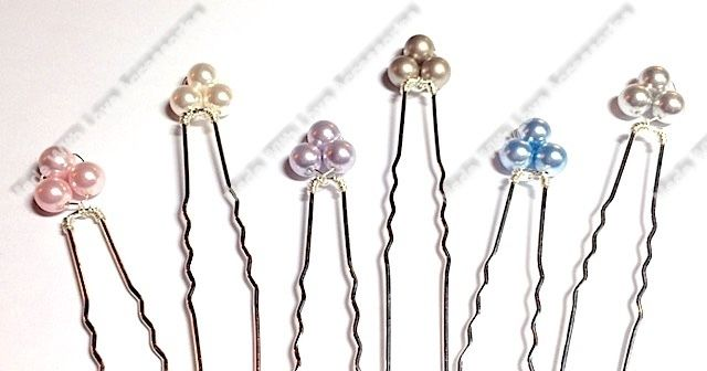 Pearl Flower Hair Pins - Flower Bobby Pins - Hair Accessories - Wedding Accessor £7.50