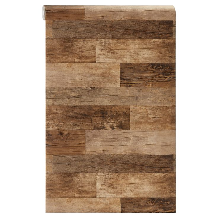 Sfeervol vliesbehang met houtdessin. 10 meter per rol. Plakken met lijm met Perfax Roll-On. #kwantum #behang #muur #vliesbehang #hout #houtdessin