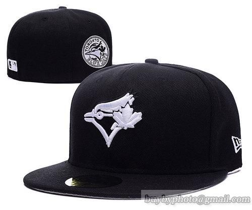 Toronto Blue Jays Fitted Hats 59fifty Hats Black only US$6.00 - follow me to pick up couopons.