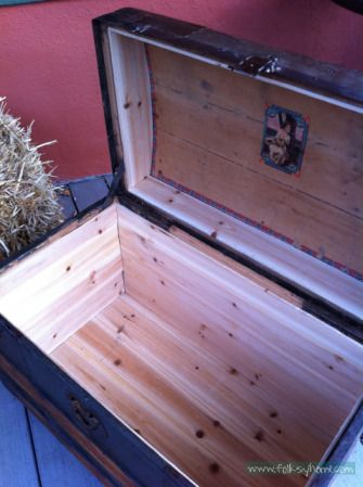 how to line a trunk with cedar