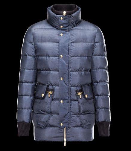 haute qualité Manteau Moncler Gamme Bleu Longue Doudoune Bleu boutique