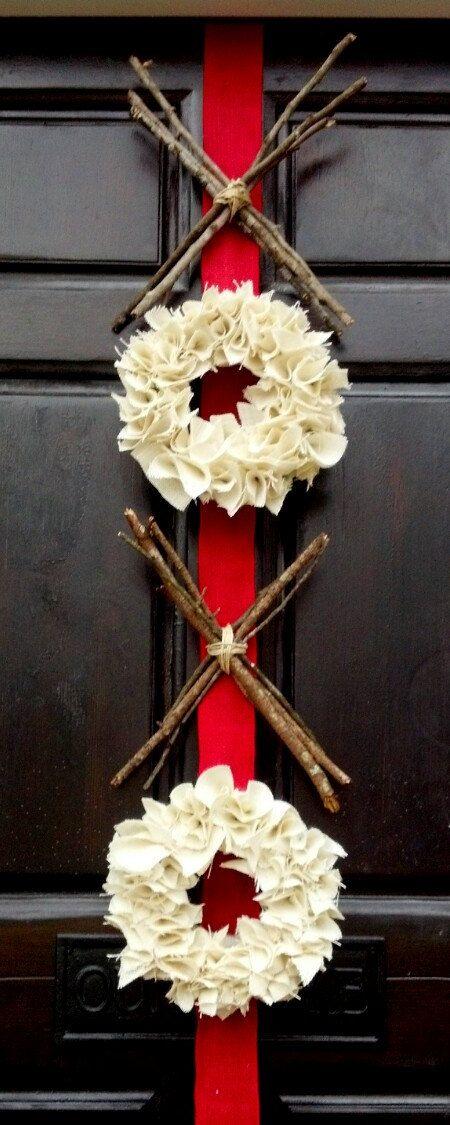 Valentines Day Decor - burlap wreath - XOXO - hugs and kisses - xo wreath - red pink - Valentines wreath