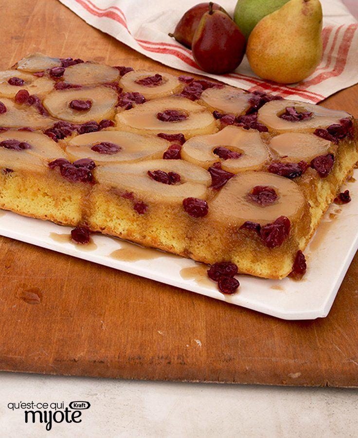 Gâteau renversé aux poires #recette