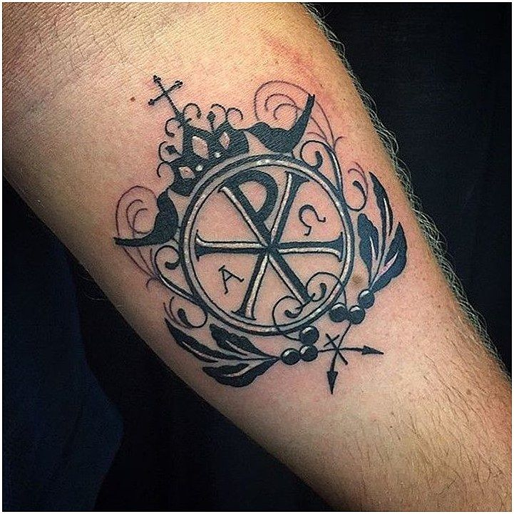 Tattoo Spiritualtattoos Alpha Omega Chi Rho Cross Necklace Google