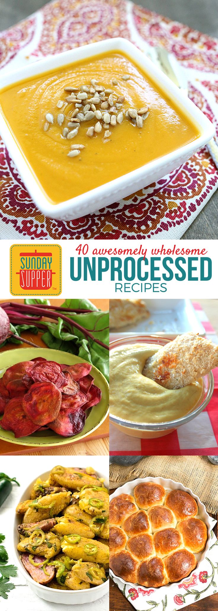 Are you ready to ramp up the amount of unprocessed foods you eat? Join us around the family table as we share unprocessed recipes for #SundaySupper