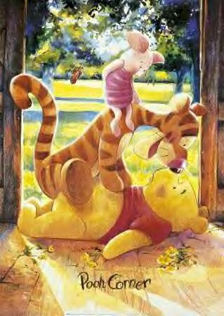 *PIGLET, TIGGER & POOH i used to have this poster in my room as a kid