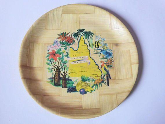 Queensland Australia Formosa Serving Tray Vintage Souvenir