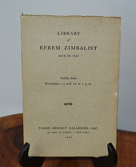 1939 Exhibition and Sale Catalogue Efrem by Collectitorium on Etsy