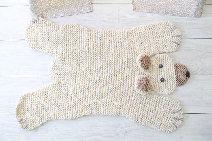 tapetes de barbante croche de desenho urso