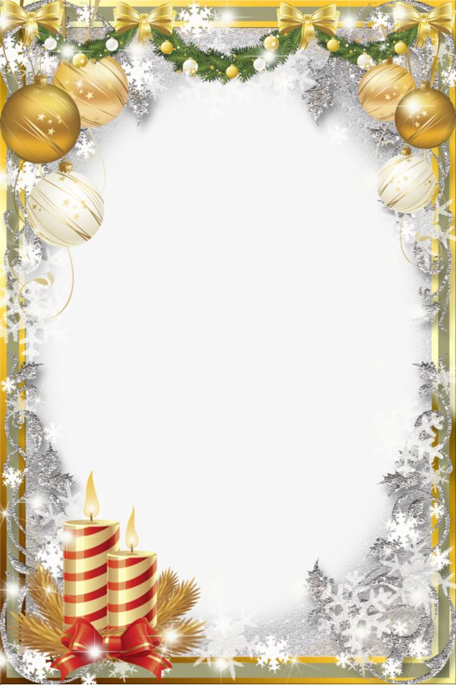 Gold Transparent Background Christmas Border Png