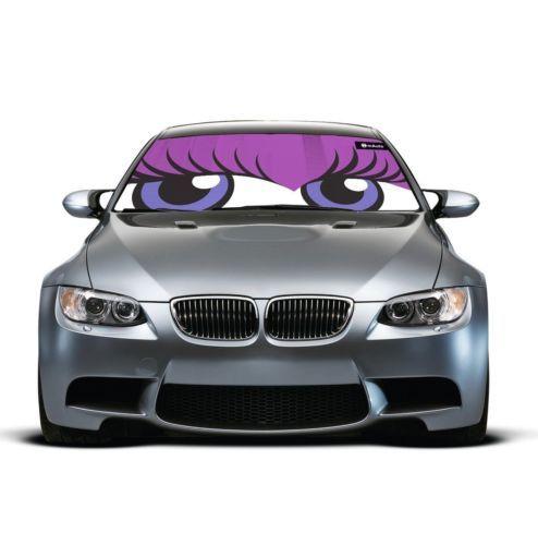 Cute Flirty Eyes Auto Car Sun Shade Windshield Heat