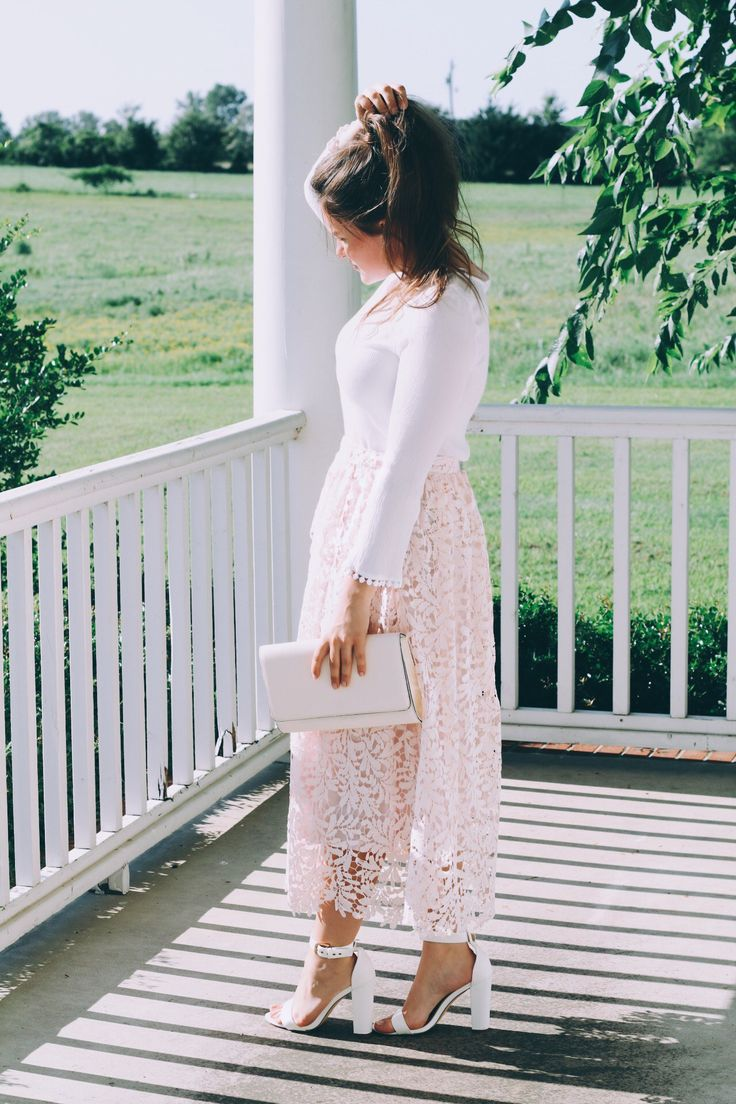 Blush and Lace Fashion Inspo on She's Intentional