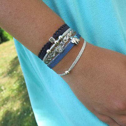 Bracelets : Bracelet manchette bleu Dé d'Amour