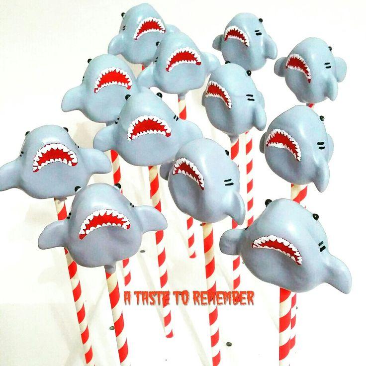 Shark cake pops #sharkweek