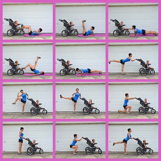 Get fit wirh your baby with this killer full body stroller workout!