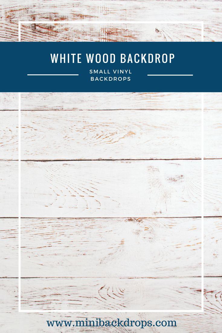 White Wood - Mini Vinyl Backdrop - 003-w – Mini Backdrops