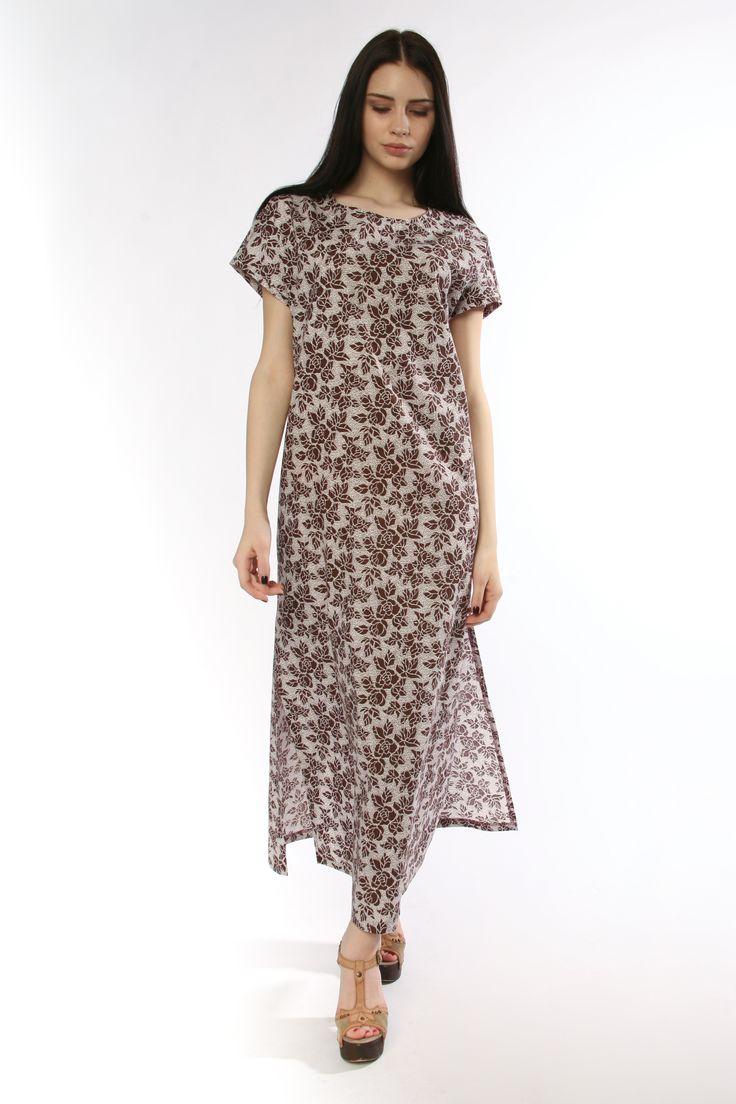 """Платье """"Шоколадные розы"""" из винтажного хлопка"""