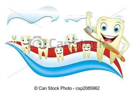 Stock illusztráció - egészséges, boldog, fog, noha, fogkefe - stock illusztráció, szerzői jogdíj mentes illusztrációk, stock clip art ikon, stock clip art ikonok, logo, line art, EPS kép, képek, grafika, grafikák, rajz, rajzok, vector kép, grafika, EPS vektor grafika